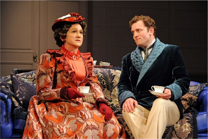 Lady Bracknell Nick Caldecott With Wayward Nephew Algernon Matthew Douglas Discussing The Meaning Of Life But Only As She Knows It Over Bone