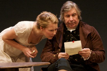 Victoria Hamnett as Mary Bennet and Peter Ellis as Mr Bennet